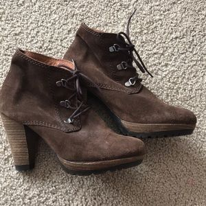 Brown Mango suede ankle boots
